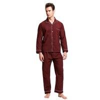 Tony & Candice пижамы Для мужчин пижамы 100% хлопок Для мужчин ночное с длинным рукавом сна Lounge Повседневное Мужская Ночная рубашка мягкая Пижама комплект