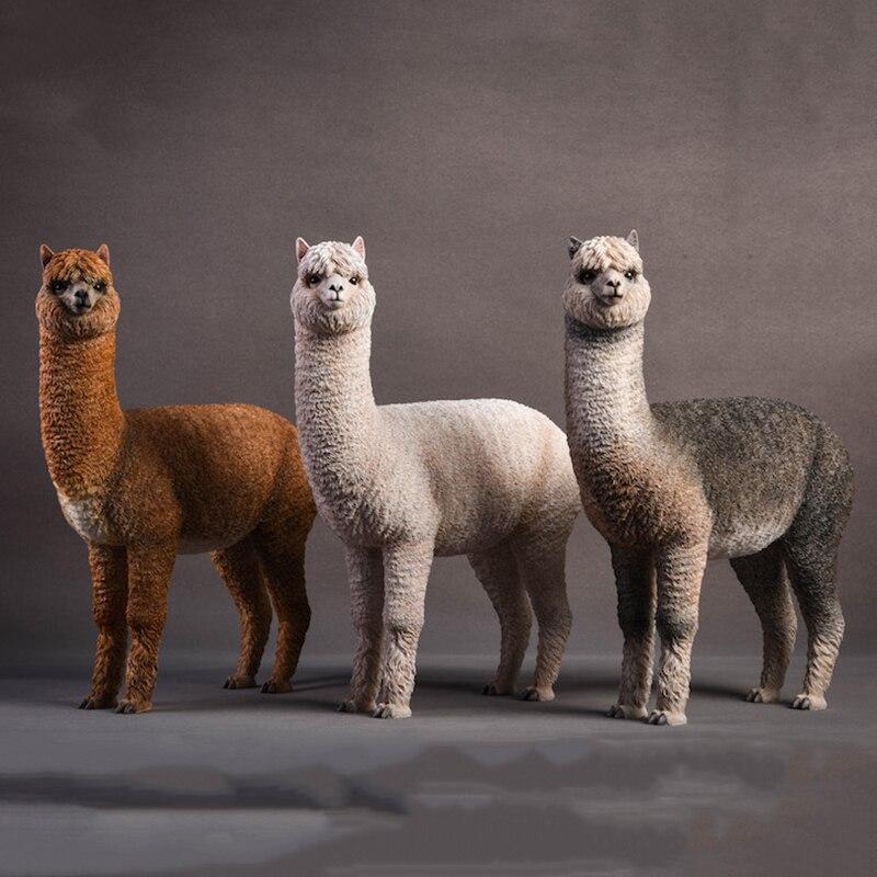 "1/6 Scale Jxk011 Resin Animal Model Alpaca Grass Mud Horse Static Decoration Scene Accessory For 12"" Action Figure Body"