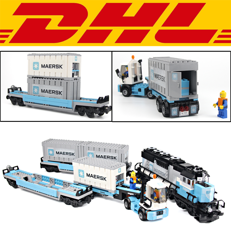 NEW 1234Pcs Technic Series Maersk Train Model Building Kits Blocks Bricks Toys For Children Figures Gift Compatible With 10219 10646 160pcs city figures fishing boat model building kits blocks diy bricks toys for children gift compatible 60147