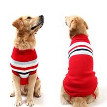 Мода Удобный XS-XXXL Большой Pet Dog Sweater Смазливая одежда для собак зимой Большая собака Одежда Маленький щенок Зимний свитер