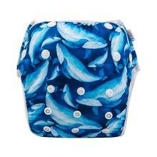 Alva darmowa wysyłka nadaje się do wielokrotnego użytku i nadaje się do prania dziecko pływać spodnie 50 sztuk pływać pieluchy basen