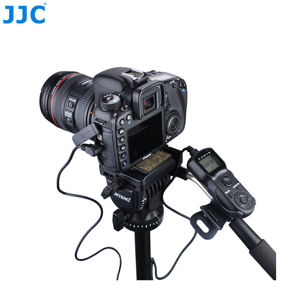 JJC Timer Remote Shutter Cord Holder Tripod Stand Clip for Canon 1300d/Nikon d5300/Sony a6000/Fujifilm/Olympus/Pentax/Panasonic jjc nylon deluxe case water resistant protector lens bag for sony a5000 a5100 a6000 canon 1300d nikon d7200 p900 d5300 dslr