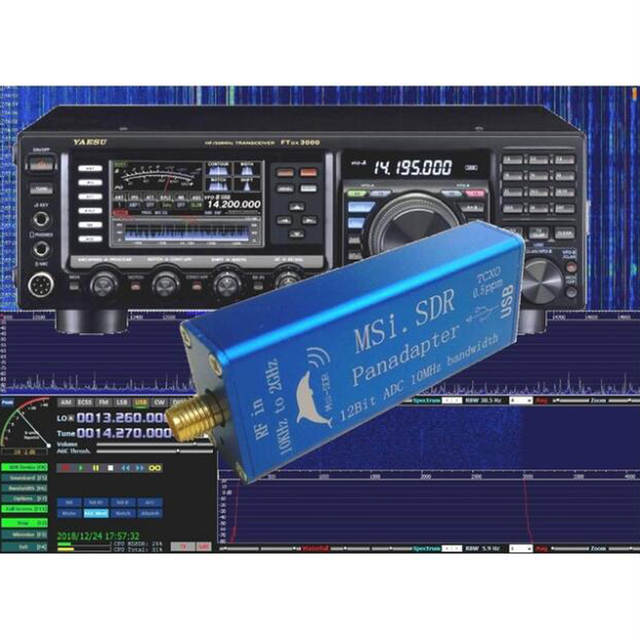 US $59 98 29% OFF|2019 latest Broadband Software Radio MSI SDR Receiver  Compatible with SDRPLAY RSP1 Software Radio Non RTL B9 006-in Radio from