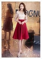 2019 Spring Multi Elegant Long Slim Dress Sexy V Neck Bead Decoration Cheongsam Wedding Evening Vintage Vestido Size S 2XL
