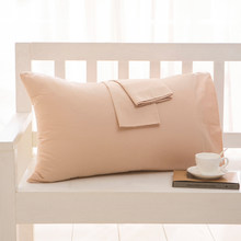 2 piece Cotton 600TC Hotel Pillowcase 19 Solid color pillow case Bedding 48x74cm 50x70 pillow cover Customize any size(China)
