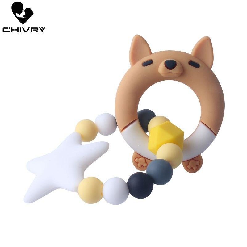 Chivry bébé dentition Silicone perles mignon dessin animé cochon dentition nouveau-né bébé garçons filles sucette sucette jouets à mâcher