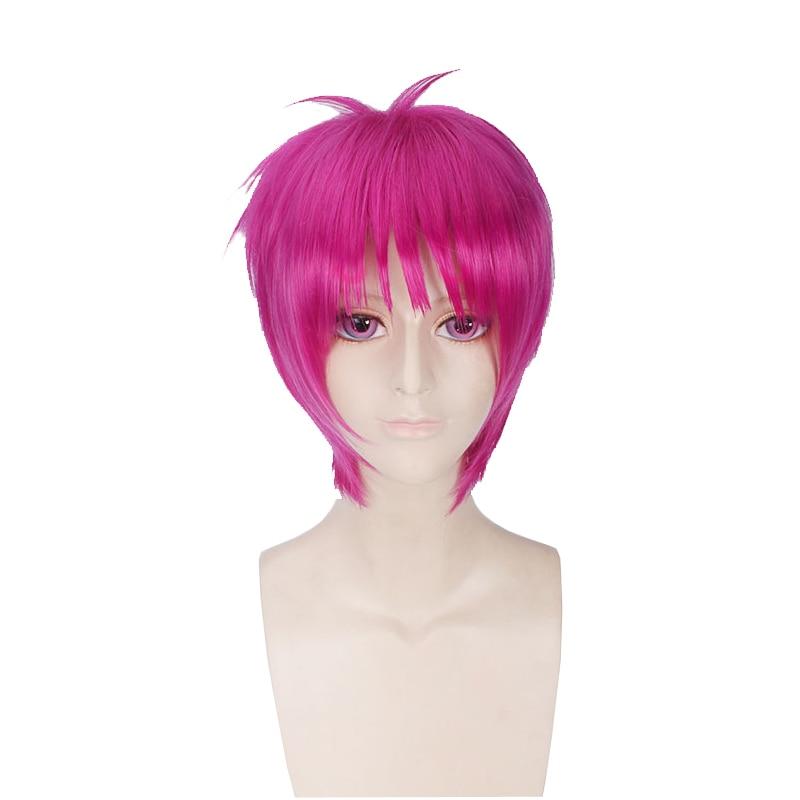 Anime The Disastrous Life of Saiki K. Saiki Kusuo Wig Cosplay Costume Men Short Synthetic Hair Halloween Party Wigs