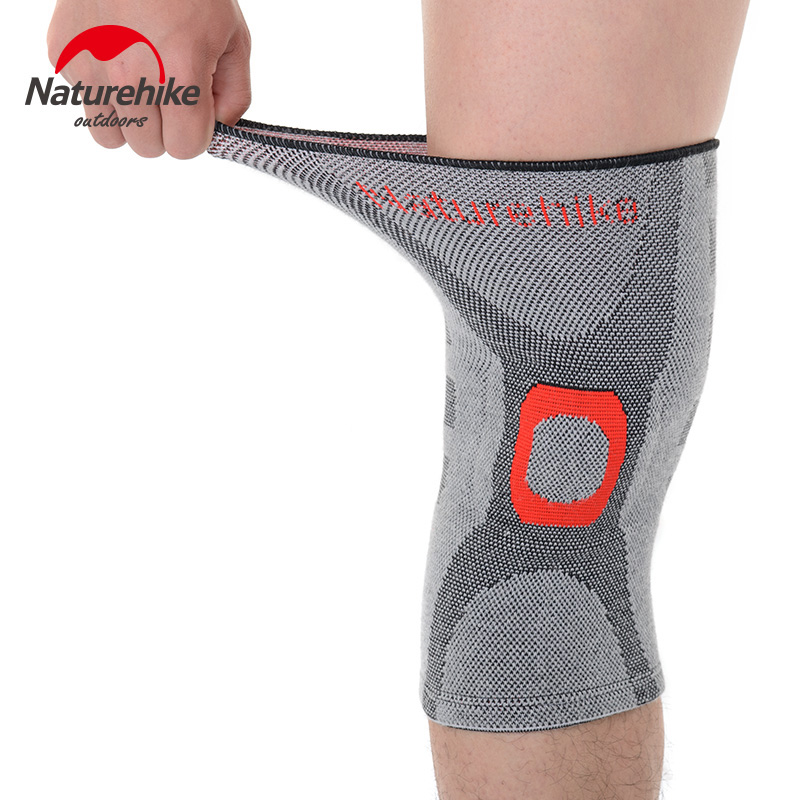 NatureHike Elastic Knee Support Ajustar Bamboo Charcoal Rodilleras Brace Kneepad Volleyball Basketball Guardia de seguridad Correa M L XL