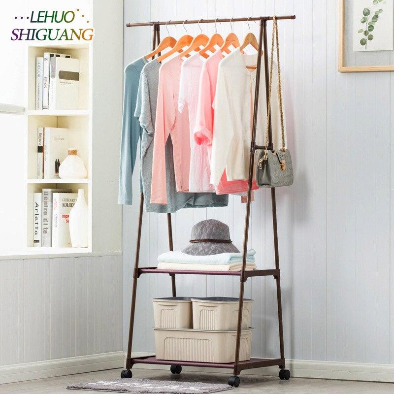 Вешалка нетканых материалов из нержавеющей стали простой сборки могут быть удалены Спальня двигаться Треугольники вешалка для одежды шкаф мебель
