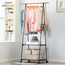 Coat font b Rack b font nonwovens Stainless steel Simple Assembly can be removed Bedroom move