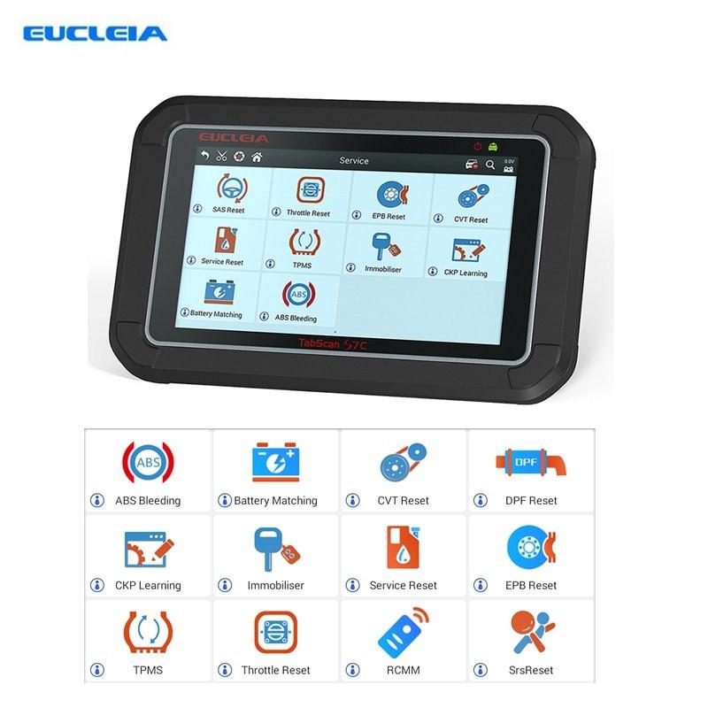EUCLEIA TabScan S7C OBD2 Codice Leggi Scanner Diagnostico Auto Professionale Con DPF EPB TPMS Olio strumento di Ripristino del Servizio di Diagnosi Auto