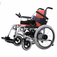 BZ 6101S Solid Tiers Wheels High Quality Folded And Safety Folding Electrical Wheelchair For Disabled And