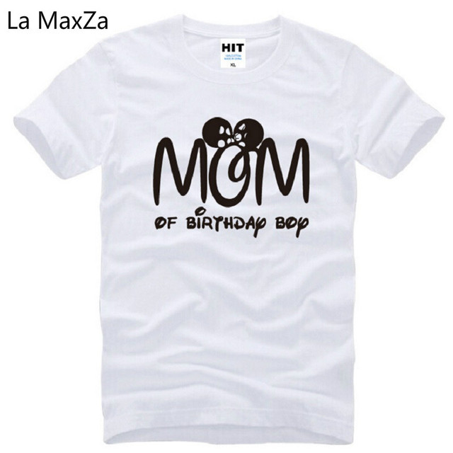 New Designer Mom Of Birthday Boy T Shirts Men Cotton Short Sleeve Funny Printed Mens Shirt Mother Day Gift Tees