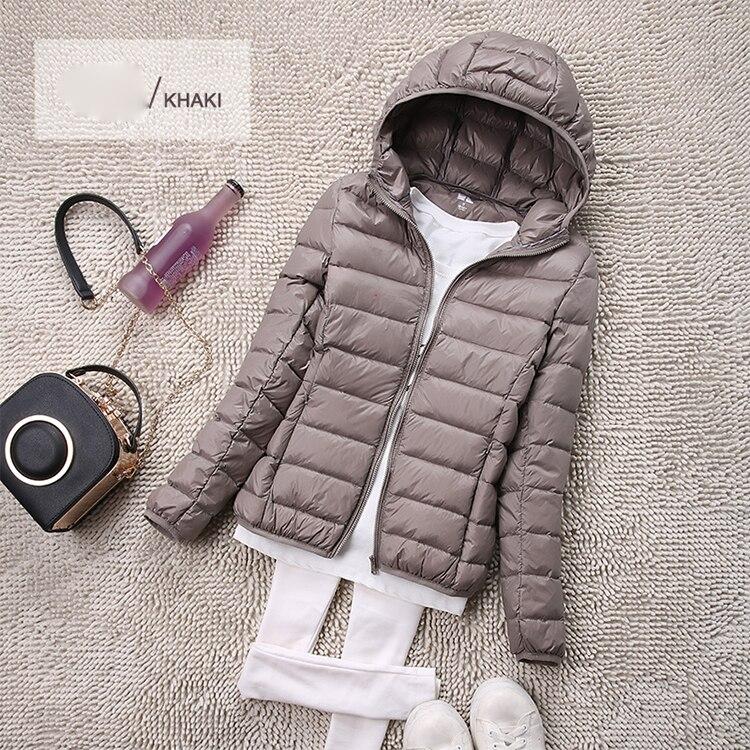 SEDUTMO Winter Plus Size 4XL Womens Down Jackets Short Ultra Light Duck Down Coat Hooded Puffer Jacket Autumn Parkas ED034 8