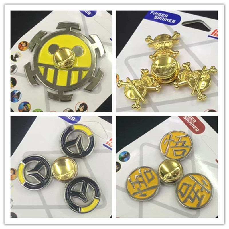 CE Approval One Piece Wukong Skully Naruto Gyro Toys Hot Cartoon Metal Hand Fidgets Spinners For