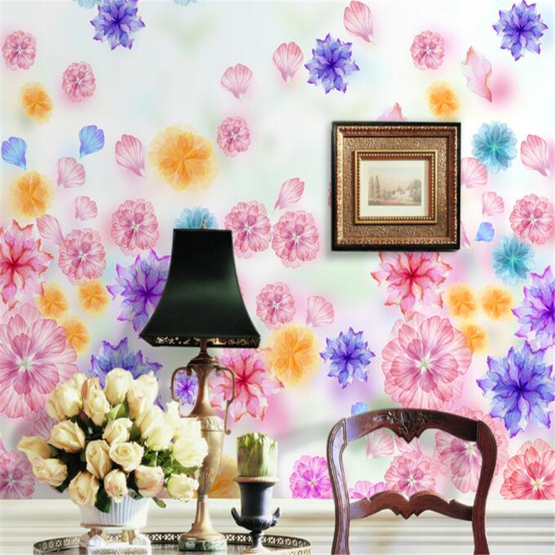 Beibehang Custom Photo Wallpaper Beautiful Dream Fantasy Garden Flowers Room Mural Living TV 3D Papel De Parede In Wallpapers From Home