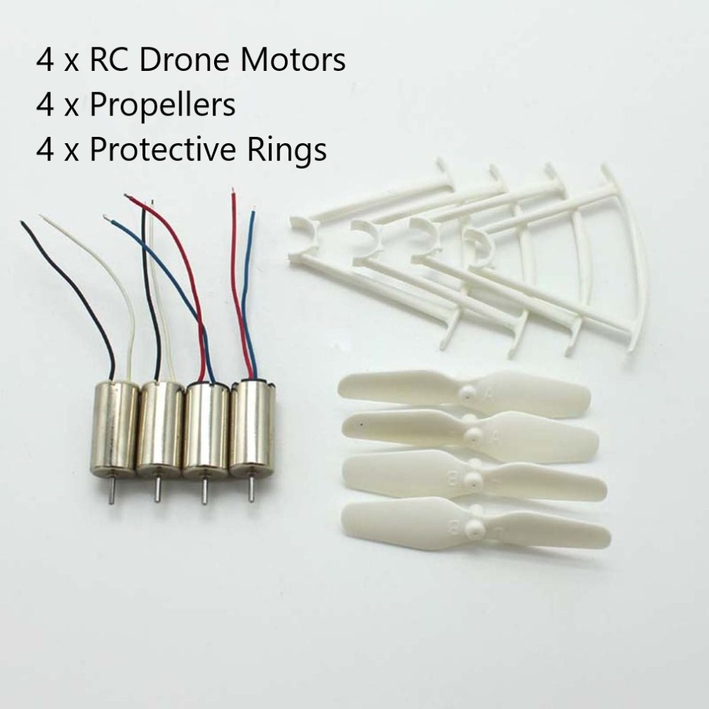 4pcs RC Drone Motors CCW CW Engine Motor Propellers Protective Rings Drone Spare Parts for SYMA X21 X21W Quadcopter visuo xs809w drone original parts motors engines rc quadcopter spare parts cw ccw motor