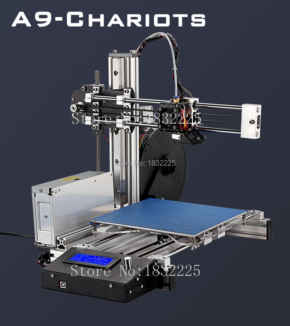 MK3 Hotbed Upgraded Quality impressora 3d printer DIY Kit with 1 Roll Filament 8GB SD card and LCD for Free