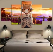 5 Pieces Canvas Art Re Zero Home Decor Modern Artwork Anime Girl HD Pirnt Picture Poster Wall Art Decorations Living Room Framed(China)