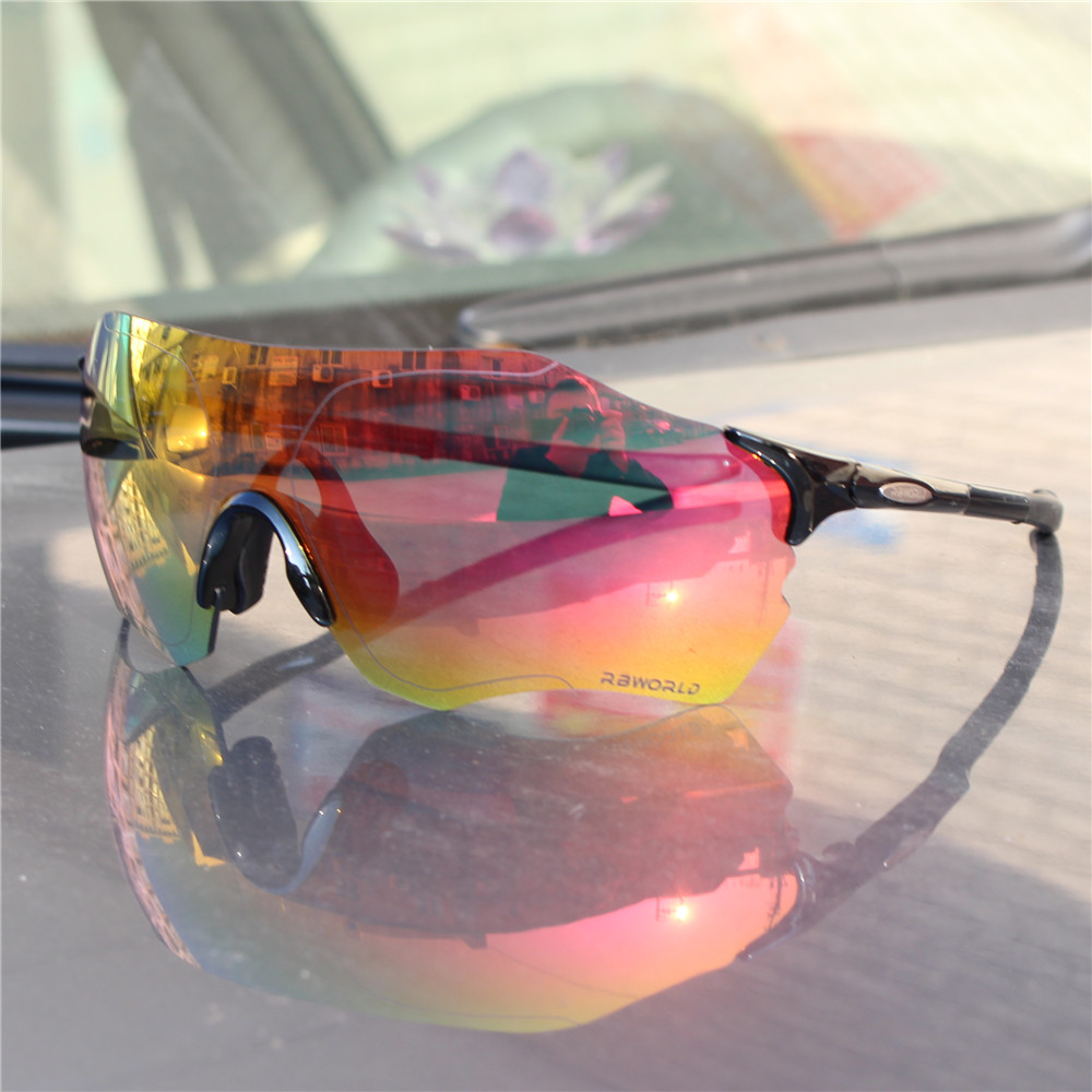 FUll rosso Lens Polarized TR90 Sport Cycling Occhiali Uomo MTB Mountain Road Bike Bicicletta Cycling Eyewear Occhiali da sole EV
