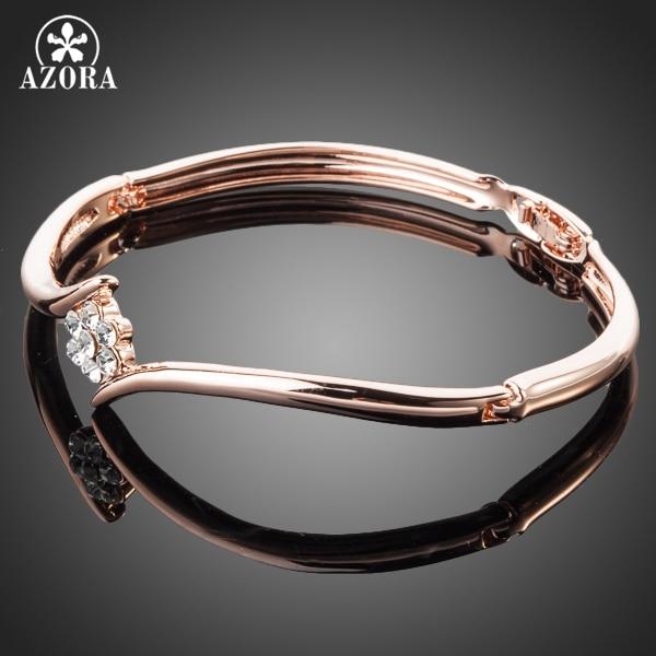 ΑΖΩΡΑ Rose Gold Χρώμα Stellux Αυστριακή Crystal - Κοσμήματα μόδας - Φωτογραφία 2