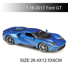 цена на Maisto 1:18 diecast Car 2017 Ford GT LM GTE pro Diecast Car Model Toy Vehicle Car Model Maisto Models Kids Car