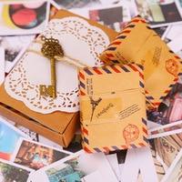 60 Cards 60 Envelope 60 Stickers In One Set LOMO Mini Greeting Card Postcard Kraft Envelope