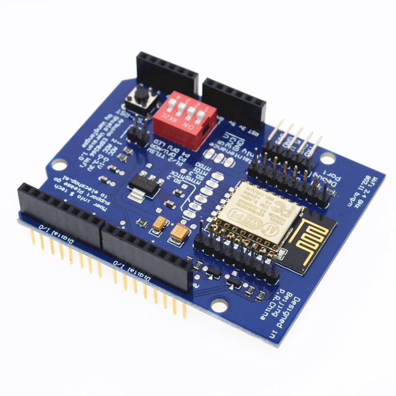 UNO R3 <font><b>ESP8266</b></font> Web Sever serial WiFi <font><b>expansion</b></font> <font><b>board</b></font> shiled ESP-12E for arduino image
