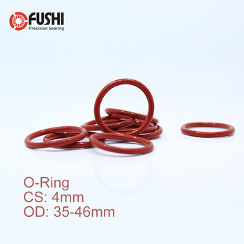 цена на CS4mm Silicone O RING OD 35/36/37/38/39/40/41/42/43/44/45*4 mm 50PCS O-Ring VMQ Gasket seal Thickness 4mm ORing White Red Rubber