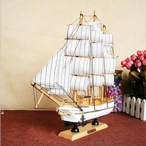 Новые 34 см белые деревянные лодки корабль парусная лодка модель ремесло Резьба морская парусная лодка модель Средиземноморский стиль лодк...