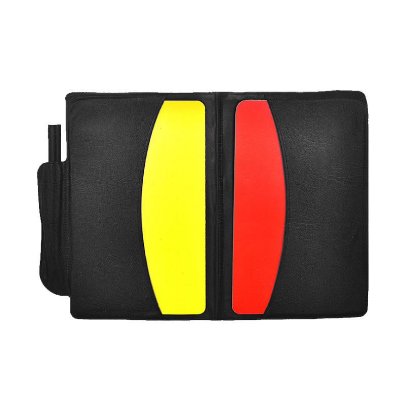 New Soccer Referee Card With Pencel Write Book Paper Set Football Red And Yellow Cards Fair Play Sports Match Referee Equipment