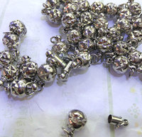 wholesale 50pcs 6 10mm BRASS Magic Clasp Connectors brass Magnetic Clasps round ball gunmetal antique silver jewelry clasp