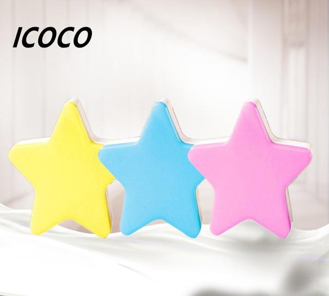 Star LED Night Light Energy Saving Induction Lamp Nightlight Automatic Switch Light Sensor Blue/White/Pink/Yellow US/EU Plug