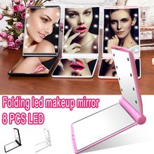 Макияж Зеркала настольное зеркало лампа домашний декор косметические портативные зеркала светящиеся