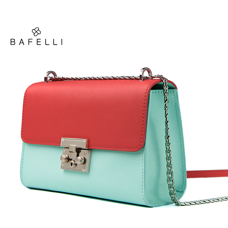 BAFELLI new arrival split leather bag sky blue bolsos mujer panelled  cowhide crossbody bag hot sale women messenger bags-in Shoulder Bags from  Luggage ... 9b659f709e