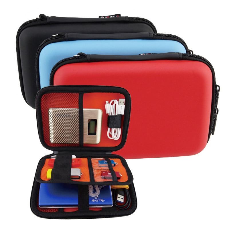 """Přenosný čtverec digitální příslušenství Cestovní úložný vak organizér pro 2,5 """"HDD případ, U disk, SD karta, nabíječka, mini Gadget Pocket"""