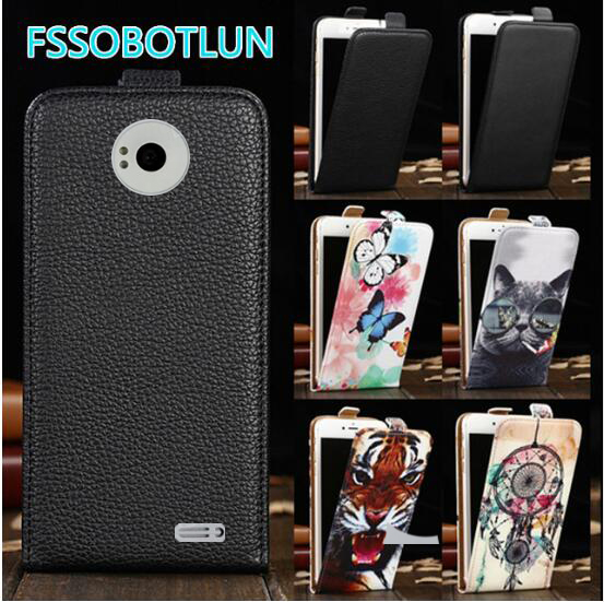 FSSOBOTLUN For <font><b>DNS</b></font> <font><b>S4501</b></font> S4501M Case TOP Quality Cartoon Painting vertical phone bag flip up and down PU Leather Cover image