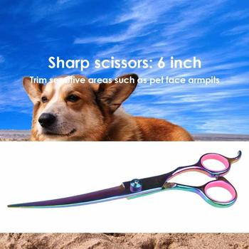 Pet Dogs Hair Scissors Puppy Cat Grooming Hairdressing Cutting Beauty Tools Pet Dog Cat Scissors Kits Hair Trimmer Products 5