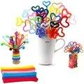 100 pçs/set Chenille Hastes Varas Coloridas DIY Brinquedos Educativos Crianças Criança