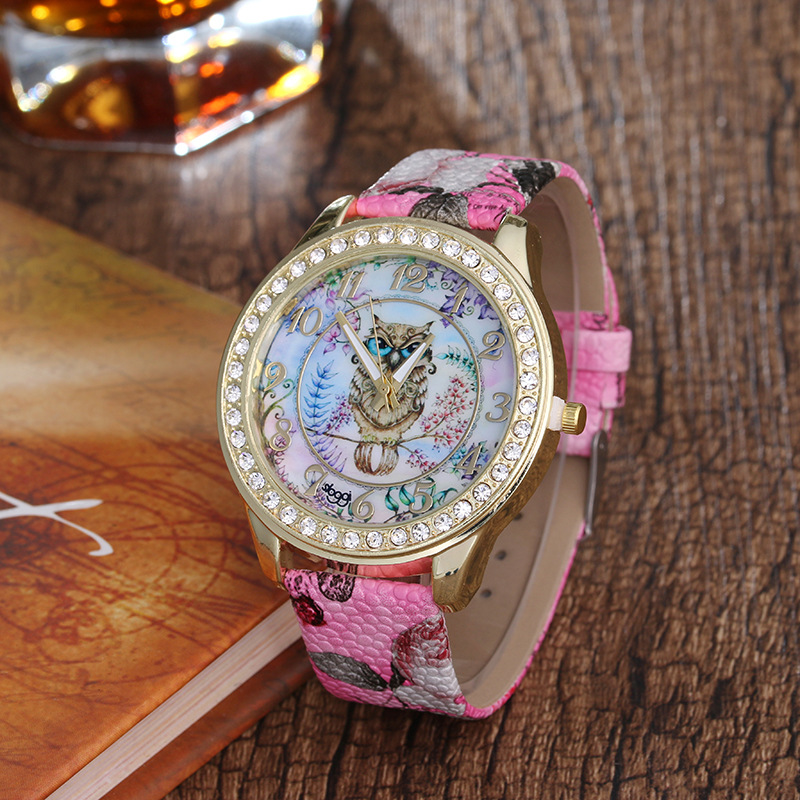Brand Strap Watches Women Dress Watch Fashion girl Casual Quartz Watch Ladies Rhinestone Quartz Watch gift цена 2017