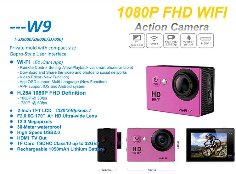 Venta caliente mini cámara de deportes de acción 4 k incorporado 25fps 2.0 \