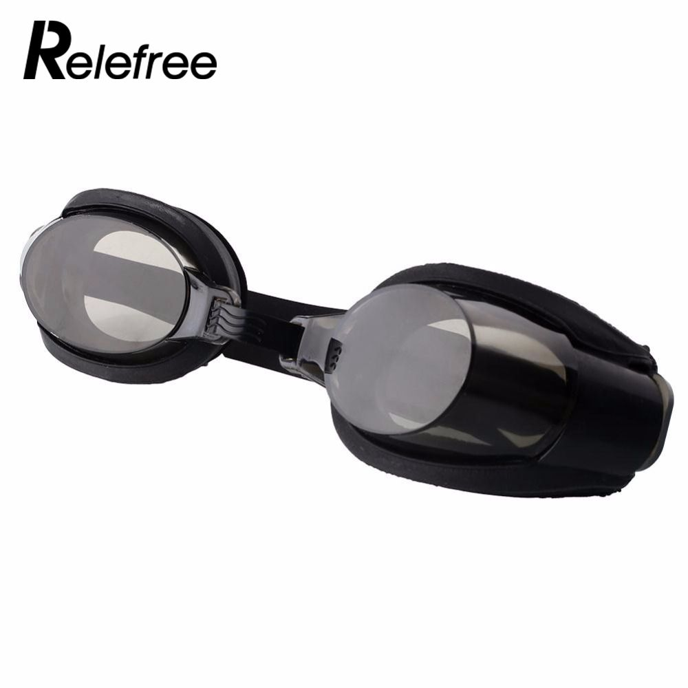relefree Durable Portable Black Protect Nose Clip +Ear Plug +Anti fog UV Swimming Goggle Adjustable Diving Glasses Free Shipping