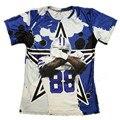 Так Здорово!!! Даллас 88 Звезда Забавный 3D Teeshirts Dez Брайант Печатный Футболки Мужчины/женщины Графический мода Топы О-Образным Вырезом Футболки