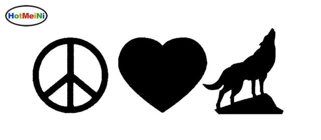 hotmeini novo amor paz lobo silhueta adesivo para carro truck bumper