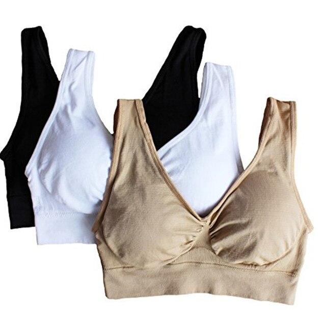3 Piece Set Sexy Genie Bra With Pads Seamless Push Up Bra Plus Size Underwear Wireless Black / White / Nude 3