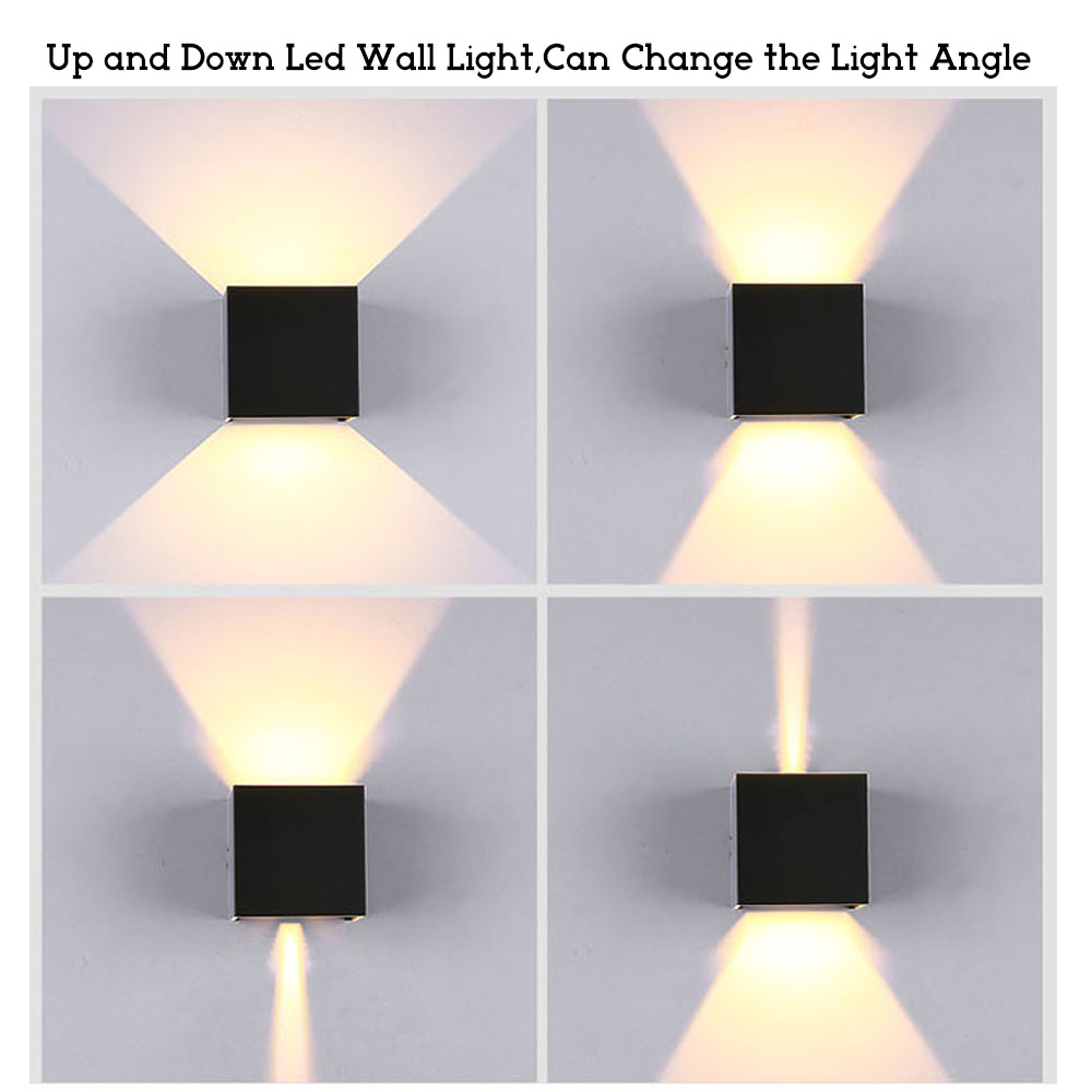 YZKJ Up and Down Led Porch Light Waterproof IP65 Wall Lamps Led Outdoor Lighting White Black Modern Sconce Wall fixtures Lamp