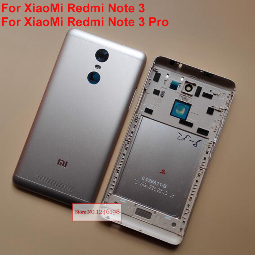 NEW For Xiaomi Redmi Note 3 / Redmi Note 3 Pro Metal Back Rear Battery Housing Protective Door with Flash Cover Repair Parts