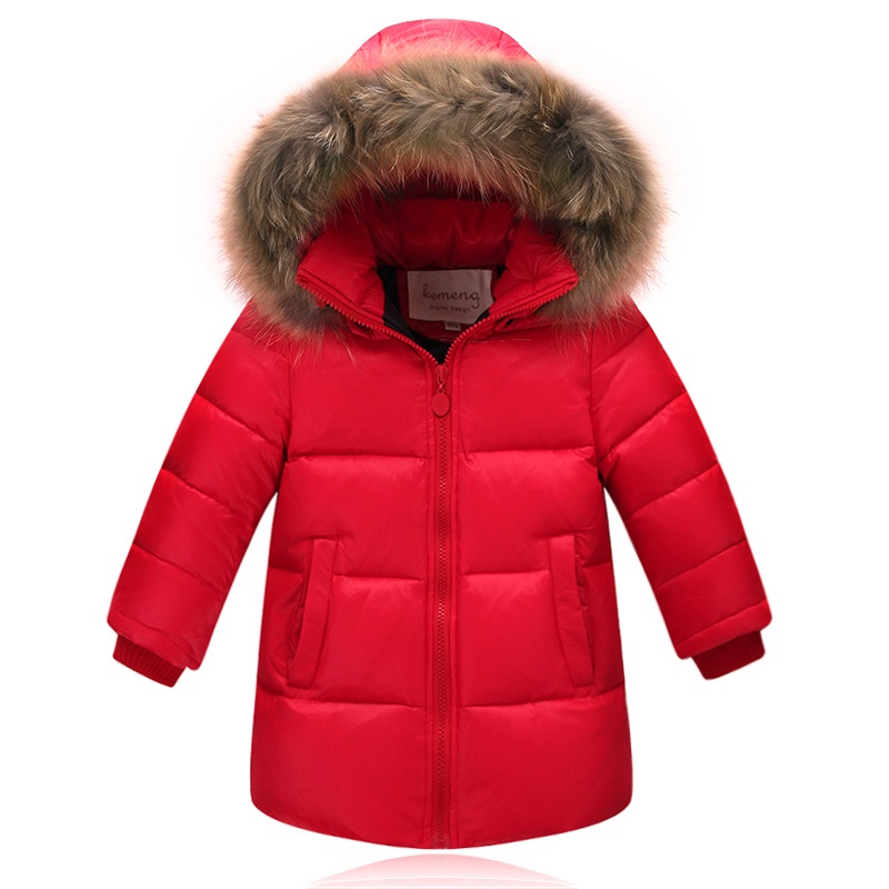 2017 winter 80% down jacket parka for girls boys coats Fur down jackets children's clothing for snow wear kids outerwear & coats boys winter jackets 80