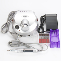 Nail Art Equipment US 202 Professional Electric Nail Drill File Machine Manicure Pedicure Bits Kit With