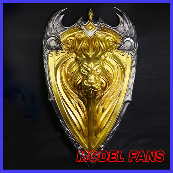 MODEL FANS Glass steel made 60cm lion shield wall 1:1 for Collection
